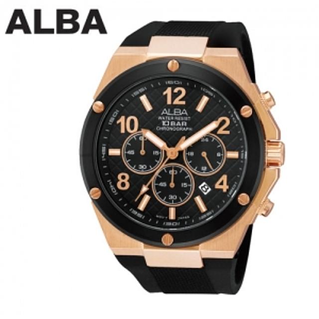 세이코 알바 100M 방수 크로노그라프 손목시계 AT3506X1
