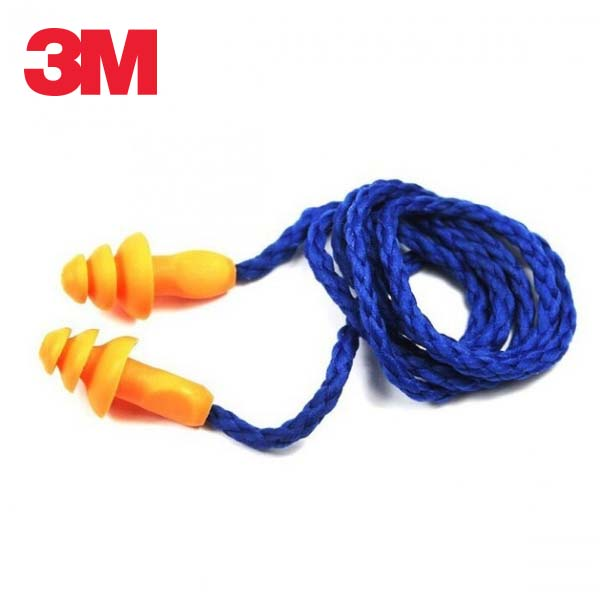 3M 끈이 달린 재사용 가능 귀마개 1270 5개 묶음 소음방지 귀마개 재사용귀마개 재사용가능귀마개 공부귀마개, 단일상품