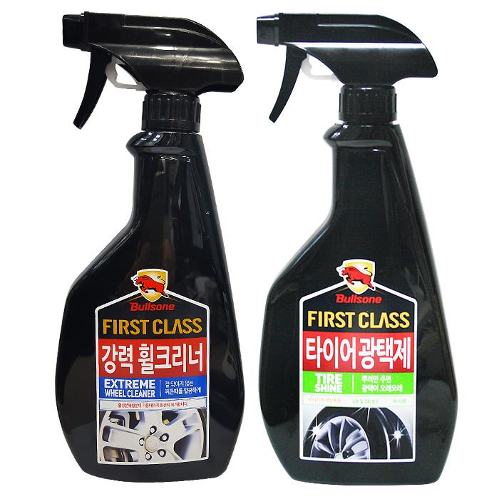 불스원 퍼스트클래스 타이어휠세정제 2종세트, 불스원 타이어광택제+강력휠크리너 (POP 15511449)