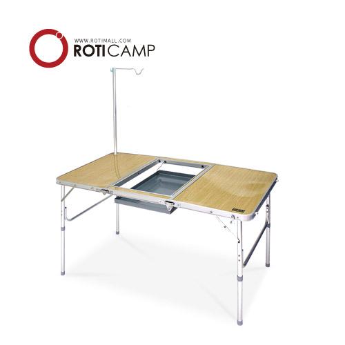 로티캠프 그릴 바베큐/화로 테이블, 우드무늬-7-193772480