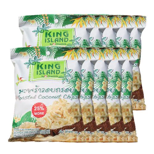 [파란푸드] 킹아일랜드 코코넛칩, 50g, 10팩