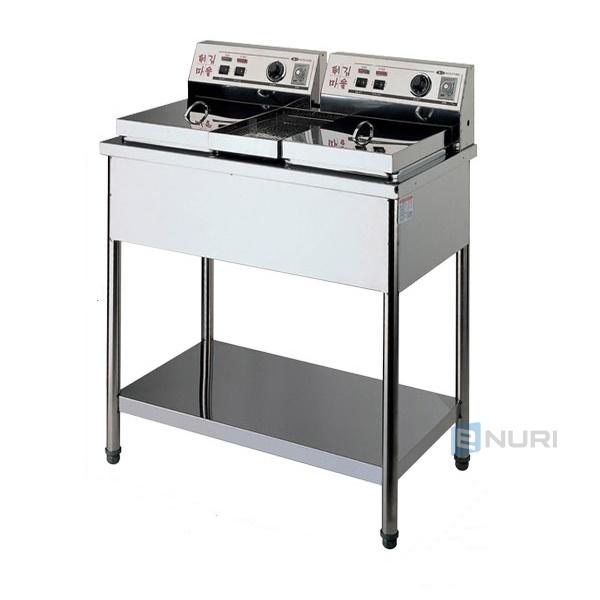 대신전기산업(주) 대신전기튀김기 DS-200 (스텐2구S)업소용튀김기 2구
