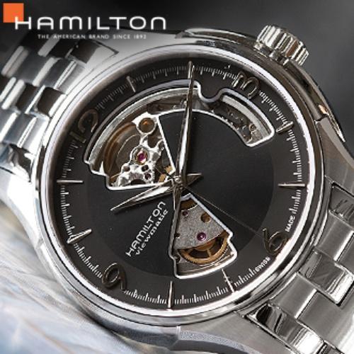해밀턴 남성용 재즈마스터 오픈하트 메탈시계 H32565135