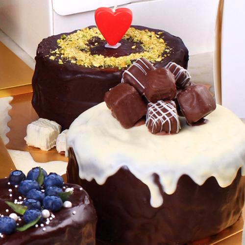 달곰베이킹 초코퐁당 가나슈케익 만들기세트, 1세트, 초코퐁당 가나슈케익 만들기세트-미니-2인용