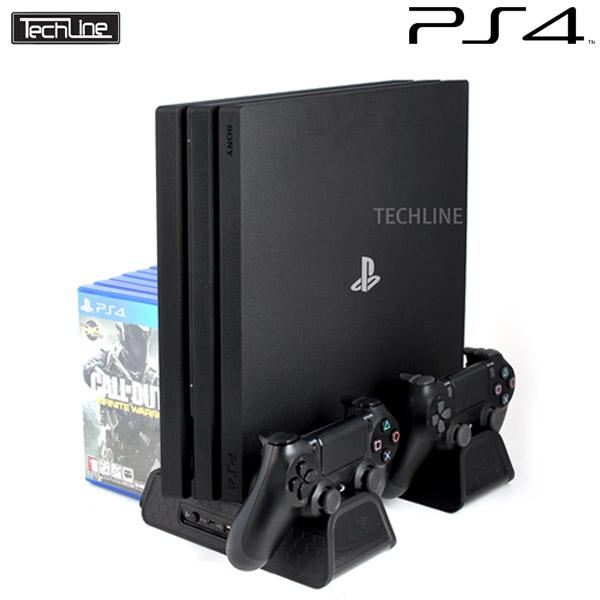 테크라인 DOBE PS4 공용 쿨링 멀티 스탠드, DOBE 멀티 쿨링스탠드 (Pro-Slim 공용 호환제품), 1개