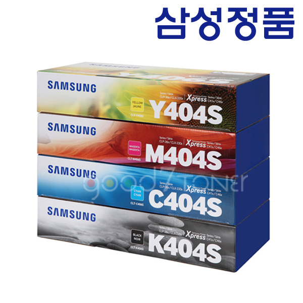 삼성전자 CLT-K404S SL-C482W SL-C430 SL-C482FW 정품토너, 1.삼성정품토너 CLT-M404S 완제품 빨강, 1개