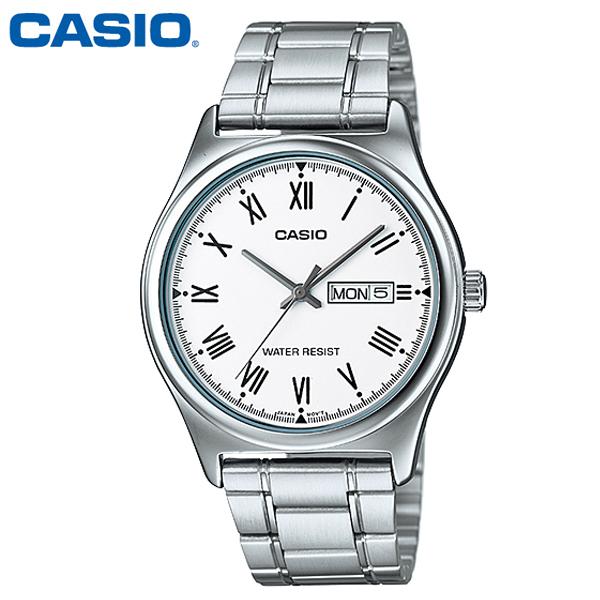 정품 카시오 CASIO 남성용 MTP-V006D-7B 메탈밴드 손목시계