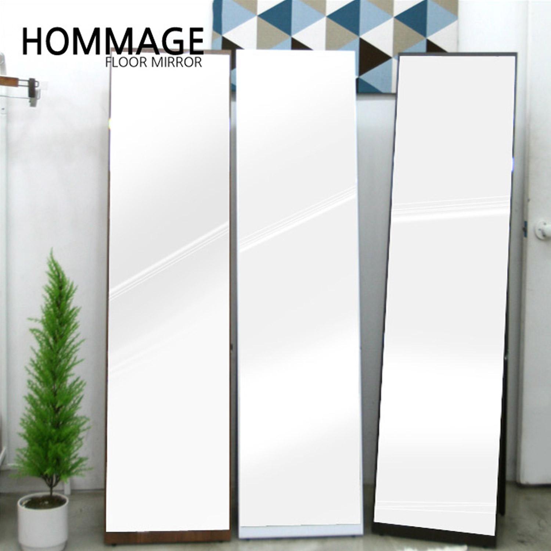 [오마쥬] 스탠딩 400 에칭 전신거울 1550x400/드레스룸 거울, 화이트