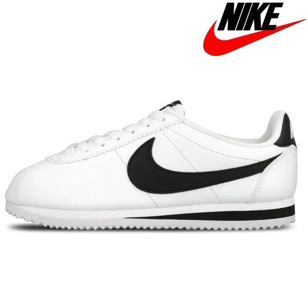 [나이키] 클래식 코르테즈 레더 W 여성 운동화 신발 스니커즈 흰검 807471-101