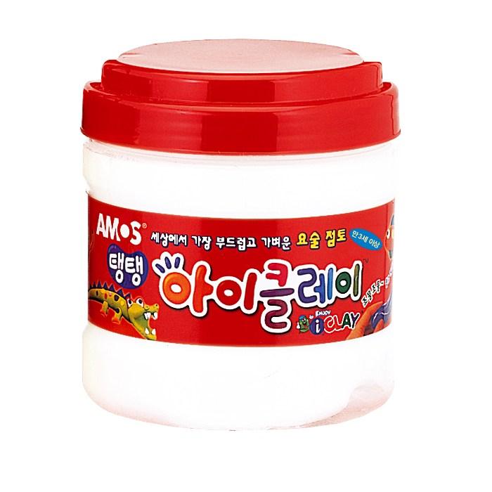 아모스 아이클레이대용량 400g 유아용클레이/점토, 아이클레이리필(흰색)