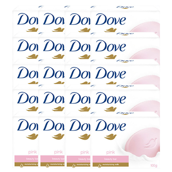 도브 뷰티바 핑크 비누, 100g, 20개