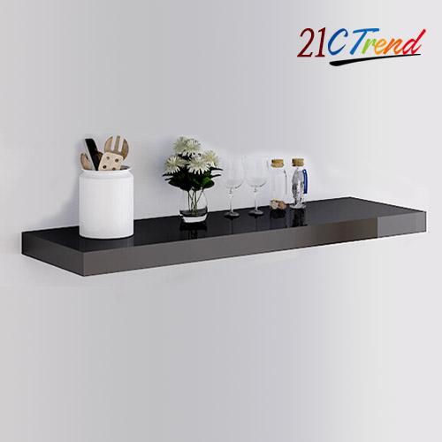 21세기트랜드 디자인 벽선반, 200 일자 블랙 600mm