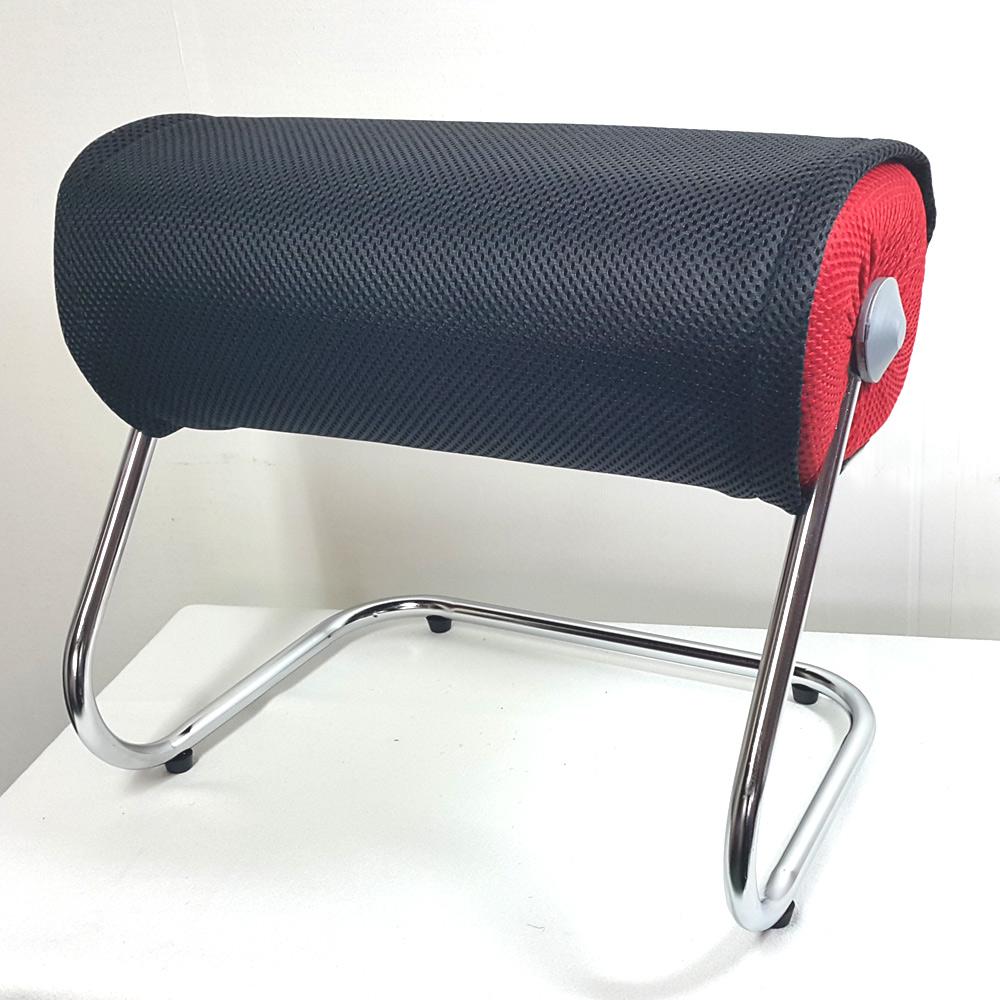 휴랜드 다리거치대 발받침대 스툴, 빨강거치대+검정겉커버