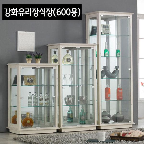 철물프렌드 강화유리장식장600용 장식장, 4단(워시)