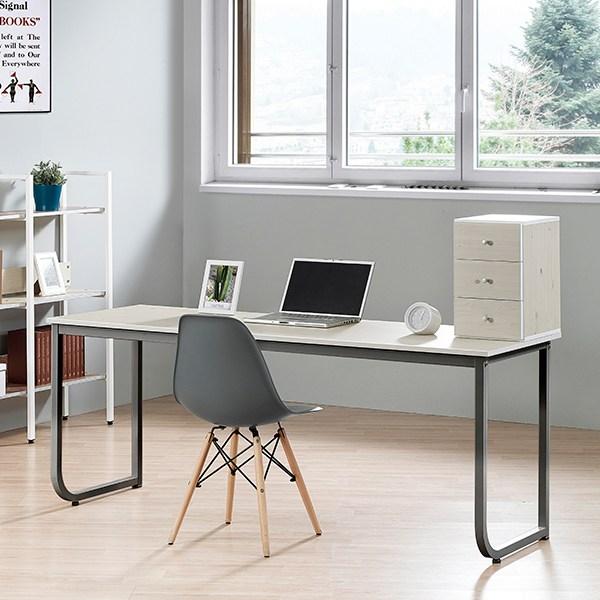 리더스퍼니처 U형 800 1200 1500 1800 책상, 합성목재, 자몽U형1500책상-화이트워시+블랙