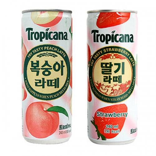 트로피카나 딸기라떼 240mlx30캔, 30캔, 240ml