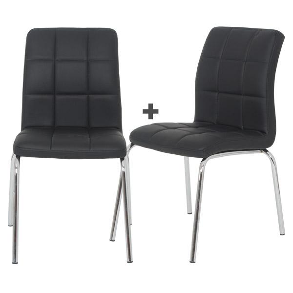베스트렉 B227 인테리어의자 1+1 식탁의자 책상의자, 블랙(1+1)