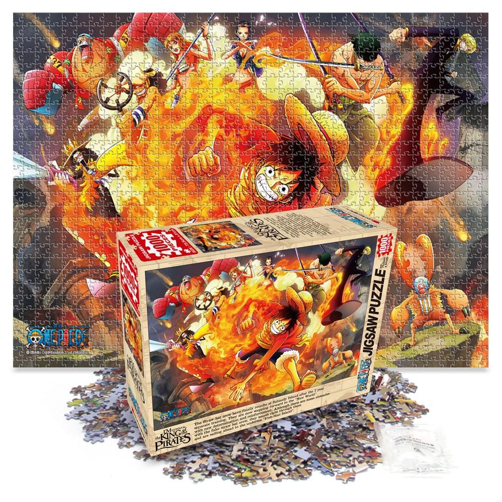 원피스 퍼즐 1000피스 불굴의 투지 직소퍼즐 액자, 1000 액자 수지블루