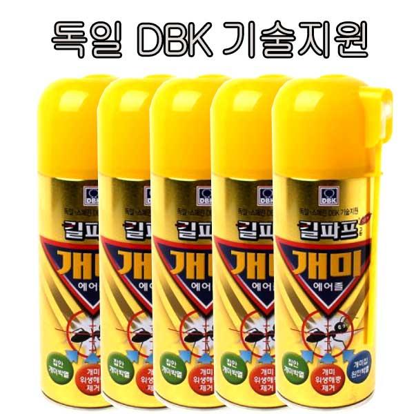 킬파프 개미에어졸 250ml 의약외품 바퀴벌레 개미 퇴치 약 박멸 퇴치약, 5개