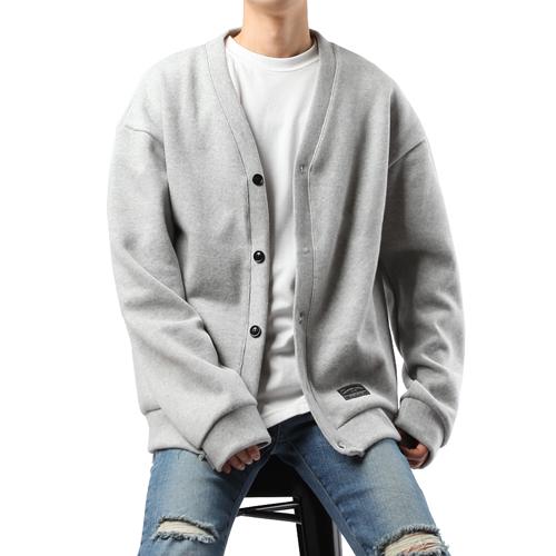 플레이마틴 남성용 피치 오버핏 코튼 가디건