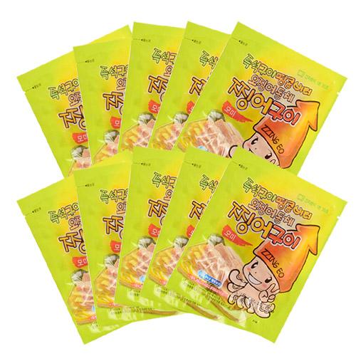 [온누리식품] 영화관 땅콩 버터오징어 찡어구이 모미 80g 10팩세트, 10팩