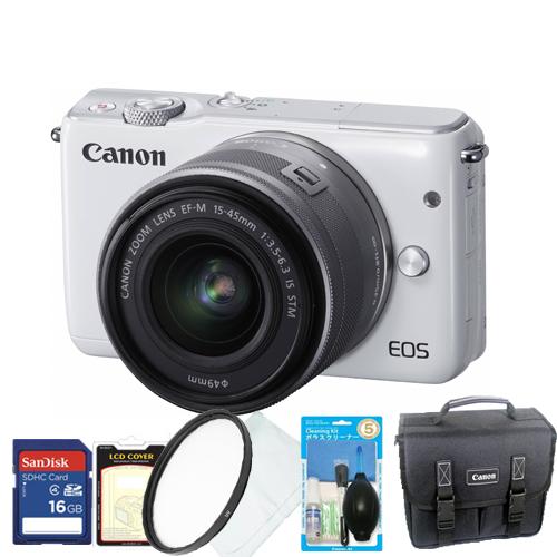 캐논 미러리스 EOS M10  16GB 패키지 EOS M101545MM KIT 화이트