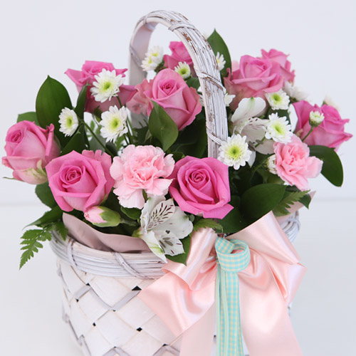 DailyFlower 3.핑크_기본꽃카네이션 생화꽃배달 날짜지정 꽃집직접배송, 3핑크_기본꽃바구니