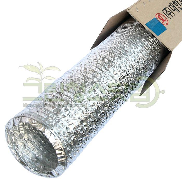 알루미늄닥트호스 100mm-10m 은박4호 알루미늄자바라 식당환풍 배기용 후렉시블닥트호스 통풍장치용호스 덕트호스 음식점환기용 자바라주름호스, 1개