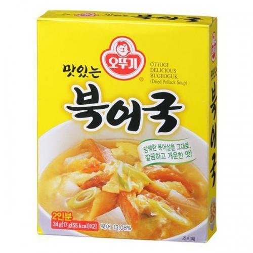 오뚜기 맛있는 북어국34gx6개입, 34g, 6개입