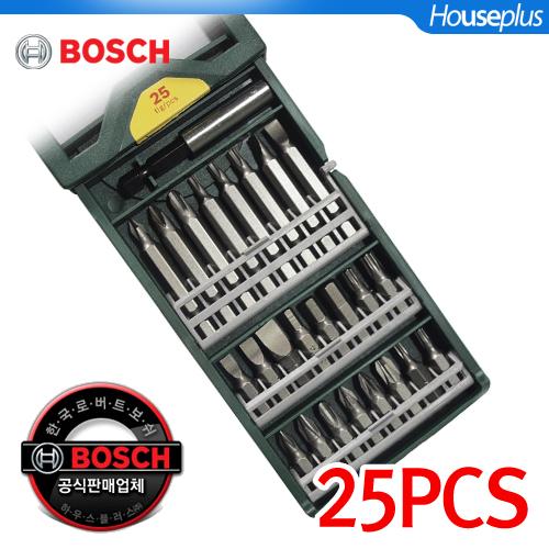 [보쉬]MINI X-LINE SET 스크류드라이버비트 25PCS/다양한구성의비트, 단품 (POP 200445064)