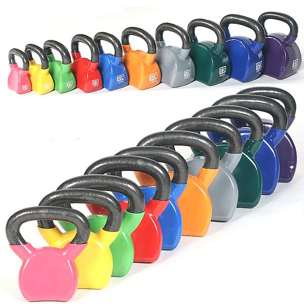 태림스포츠 (kg당 3000원)통쇠 컬러 케틀벨 4kg~32kg, 6kg