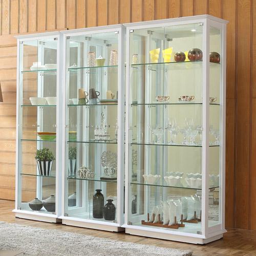 앤탑퍼니처 LED조명강화유리장식장 장식장, 5단장식장-800-화이트
