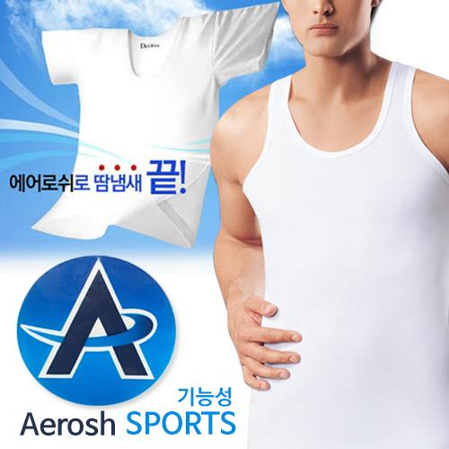 BYC 에어로쉬 스포츠 남성런닝3매