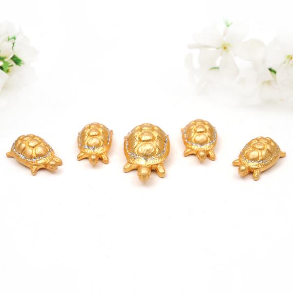 [가격준수]거북이5P중금색/행운의열쇠/순금/탁상/장식/소품/인테리어/24K도금/집들이/신혼부부선물, 거북이5P(중)금색