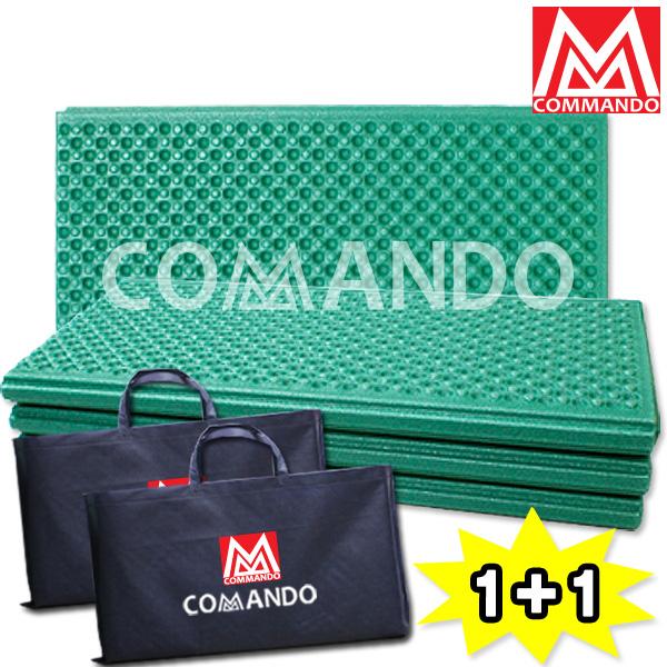 코만도 접이식 캠핑매트(1+1) 정품가방 증정 200x140, 캠핑매트1+1(카키)_기본형