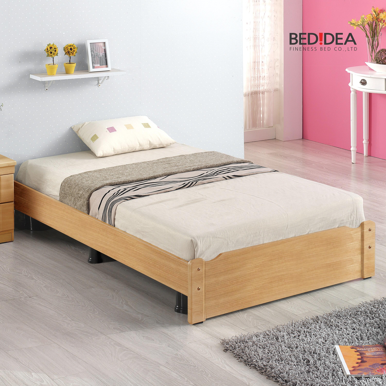 침대생각 원룸 침대 세트, 1-1.일반형/오크/슈퍼싱글, 2-1.무소음 단면 매트리스