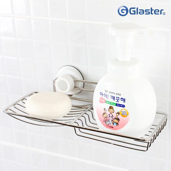 글라스터 2칸 스텐 비누받침대 비누대 욕실용품, 글라스터 2칸비누대