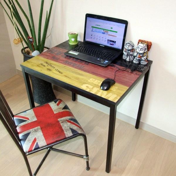다인가구 책상 컴퓨터책상 빈티지스틸책상 사무용책상 테이블800 1200 1500 1800 식탁/입식테이블, 5)800레드