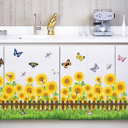 미래몰 담장 포인트 스티커, 라-061 해바라기 꽃밭