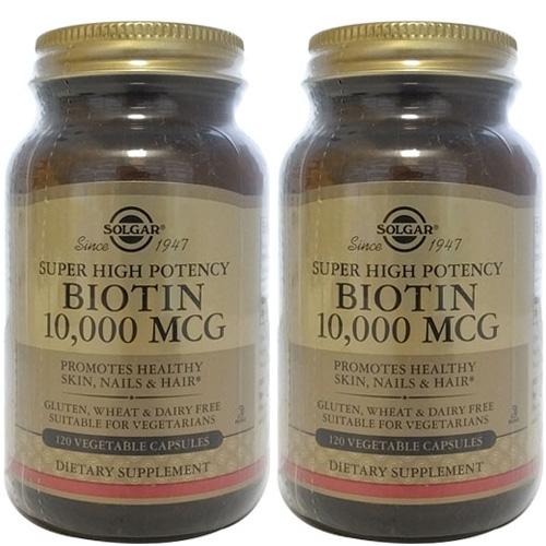 솔가 SOLGAR 2병 비오틴 Biotin 10000 mcg 120정