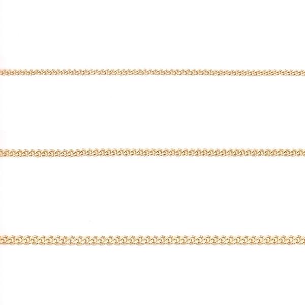 도도쥬얼리 14k 18k 목걸이 줄 커브체인 금목걸이