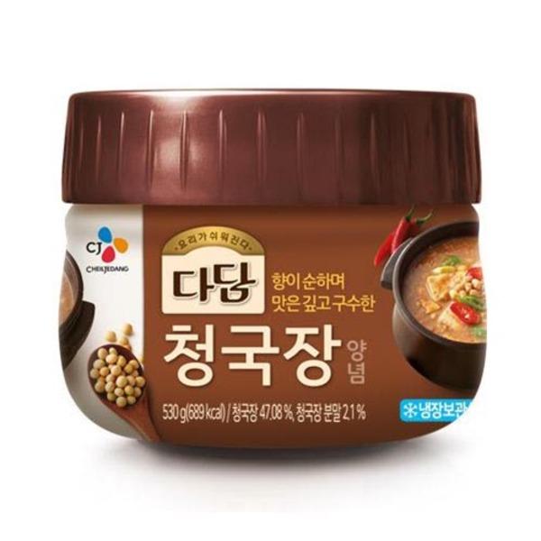 CJ 다담 청국장양념 530g 무료배송 아이스박스 발송, 2개