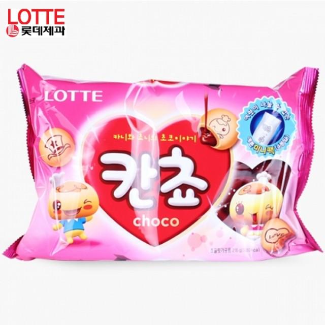 칸쵸 초코맛 216g X 6봉 기획세트 달콤한초코스낵 어린이간식 바삭한식감 단일 수량