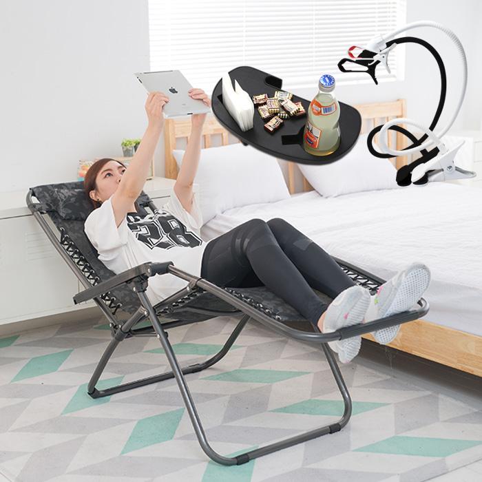 무중력의자 리클라이너 160도 의자+와이드컵홀더+자바라거치대 그네의자, A073B무중력의자