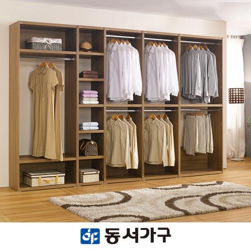 [동서가구] 리빙스 JK3200 드레스룸 DF901431, 크림화이트