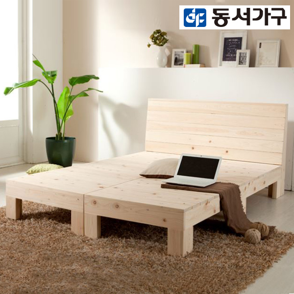 [동서가구] K편백나무 통원목 킹침대 프레임 1650 DF906954, 300