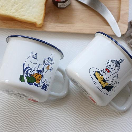 (일본) 무민 후지호로 법랑 머그컵 (2design)(550ml), 리틀미이