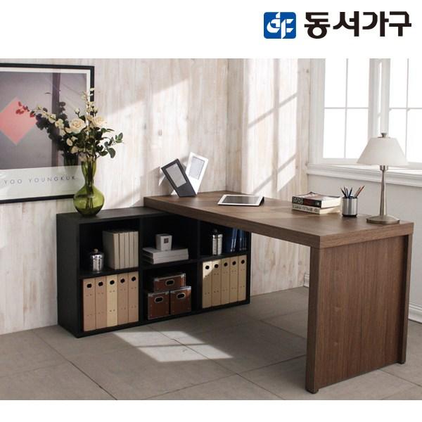 [동서가구] 시온 JOI 책상책장세트 DF905066, 올브라운