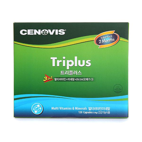 세노비스 트리플러스 스페셜 트윈세트 138g(멀티비타민+미네랄+오메가-3)120정, 1세트