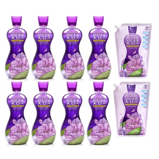 샤프란 꽃담초 섬유유연제 자스민꽃 13L 용기형X8개  13L 리필형X2개 1세트